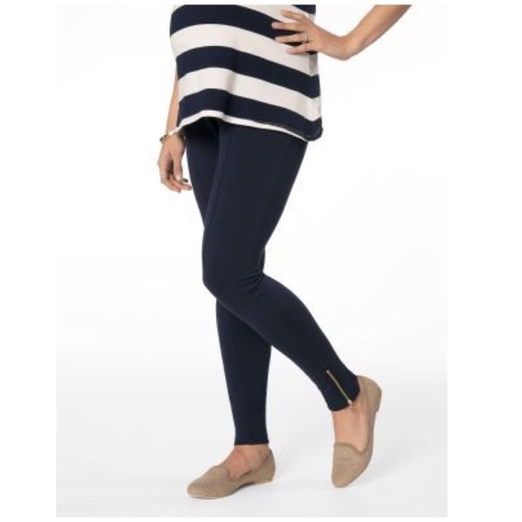 fa02659f9523f Rachel Zoe Pants | Navy Maternity Ponte Ankle Zip Leggings | Poshmark